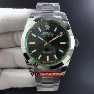 Rolex Milgauss 116400GV Çelik Kasa Siyah Kadran Super Clone ETA